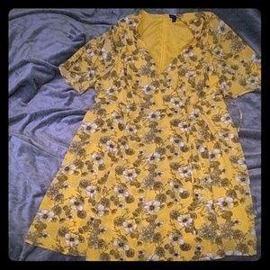 Torrid yellow flowered dress
